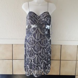 Jump apparel sequined cocktail dress NWT Size 5/6